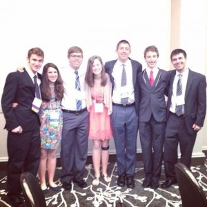 (from left to right) Eddy Madero, Rachel Shapiro, Ben Darling, Jacquie Mitzner, Nathan Bishop, Daniel Seelig, Maury Jacobs